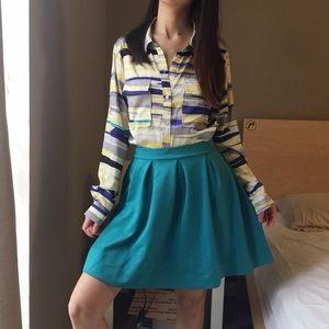 Honey Punch Foam Green Circle Skirt.-X9.